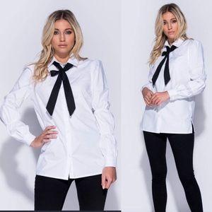 Long Sleeve Pussybow Shirt